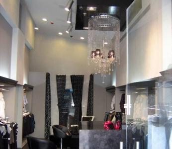 עיצוב חנות בגדים, מבט מדלת הכניסה, ענבל קרקו, עיצוב פנים ופנג שואי