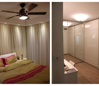 עיצוב דירה מקבלן במצליח, חדר שינה וחדר ארונות, ענבל קרקו, עיצוב פנים ופנג שואי