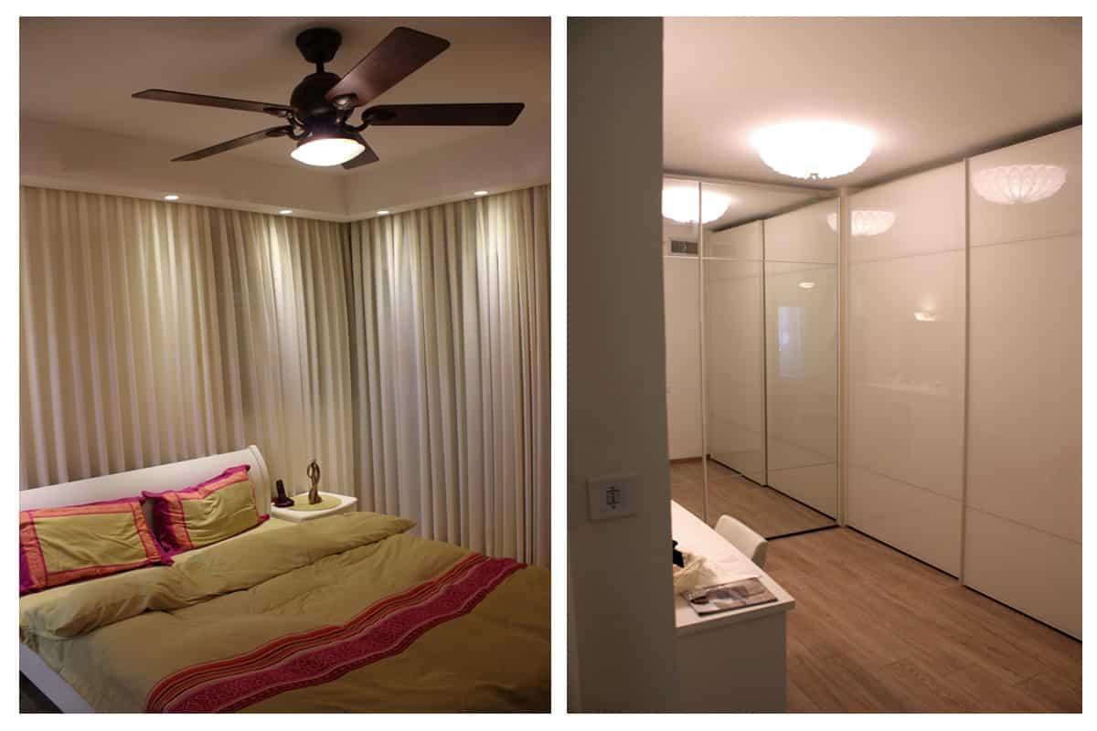 עיצוב דירות יוקרה, חדר שינה כמו במלון, ענבל קרקו עיצוב פנים ופנג שואי