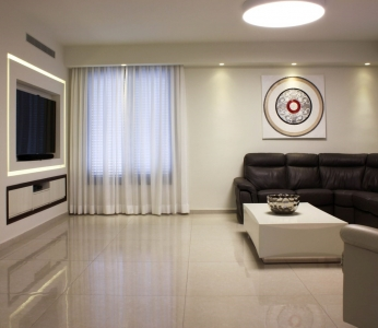 עיצוב פנים מודרני ברמת אפעל, הסלון, עיצוב פנים ופנג שואי, ענבל קרקו