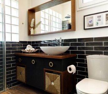 עיצוב דירה של אומן, מקלחת הורים, ענבל קרקו עיצוב פנים ופנג שואי