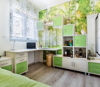 עיצוב דירת קבלן ברחובות, חדר אחת הבנות, עיצוב פנים ופנג שואי, ענבל קרקו