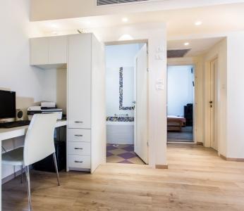 עיצוב דירת קבלן ברחובות, חדר המשפחה, עיצוב פנים ופנג שואי, ענבל קרקו