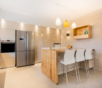עיצוב וילה מודרנית בגן יבנה, עיצוב המטבח, ענבל קרקו, עיצוב פנים ופנג שואי
