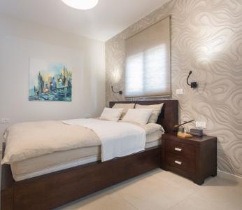 עיצוב דירת קבלן ברחובות לפי הפנג שואי, חדר השינה, ענבל קרקו עיצוב פנים ופנג שואי