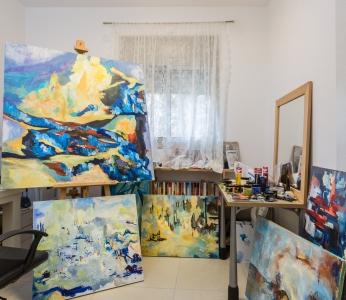 עיצוב דירה לפי הפנג שואי, חדר העבודה, ענבל קרקו עיצוב פנים ופנג שואי