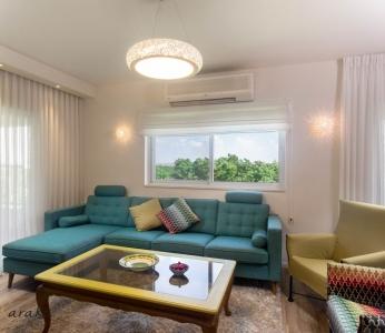 עיצוב בית צבעוני,סלון צבעוני ושמח,ענבל קרקו עיצוב פנים ופנג שואי