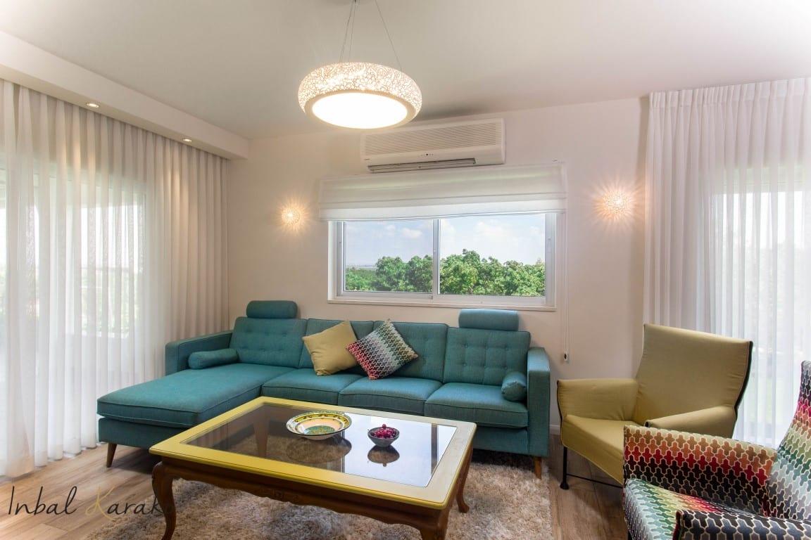 עיצוב בית פרטי, הסלון פונה אל הנוף, ענבל קרקו עיצוב פנים ופנג שואי