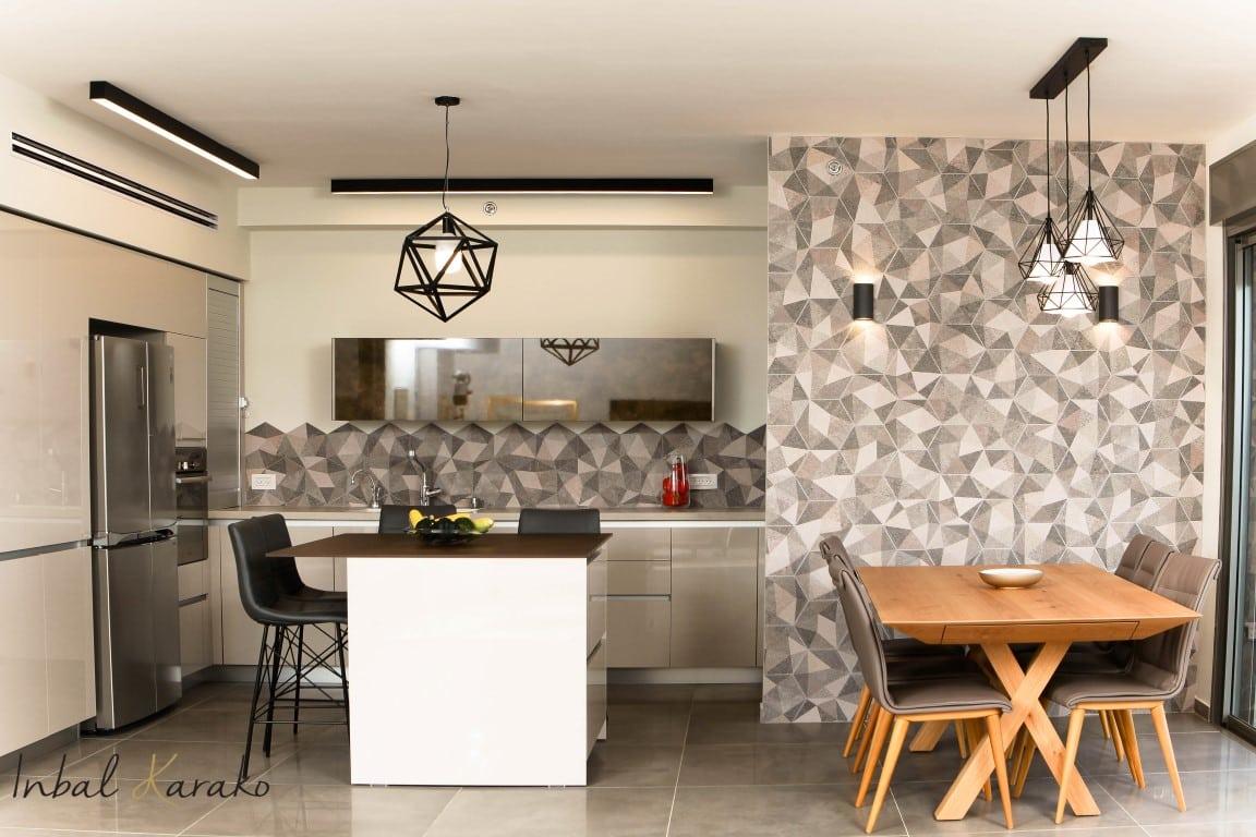 עיצוב מטבח מודרני, מטבח מודרני בראשון לציון, ענבל קרקו עיצוב פנים ופנג שואי