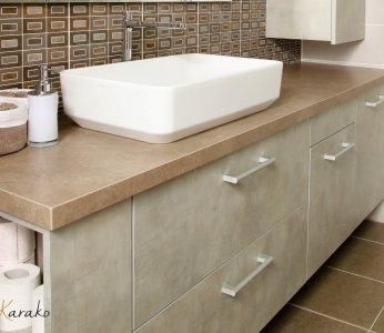 עיצוב בית לבני 60 +, ארון המקלחת, ענבל קרקו, עיצוב פנים ופנג שואי