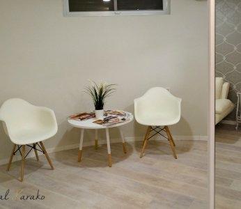 עיצוב מכון קוסמטיקה, חדר ההמתנה, ענבל קרקו עיצוב פנים ופנג שואי