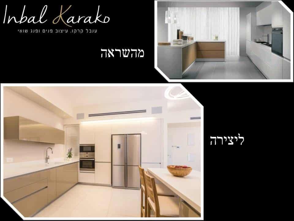 מהשראה ליצירה בעיצוב בתים, מטבח מודרני בלבן ומוקה, ענבל קרקו עיצוב פנים ופנג שואי