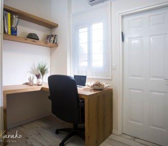 עיצוב בית על פי הפנג שואי, חדר העבודה, ענבל קרקו עיצוב פנים ופנג שואי