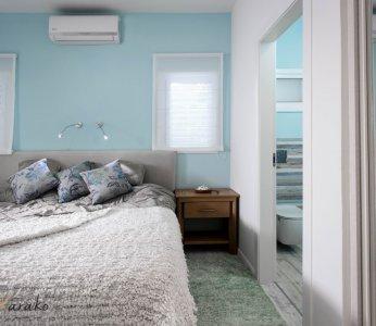 עיצוב בית על פי הפנג שואי, מבט נוסף על חדר השינה, ענבל קרקו עיצוב פנים ופנג שואי