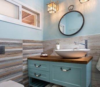 עיצוב פנים בית בקיבוץ, מקלחת הורים, ענבל קרקו עיצוב פנים ופנג שואי