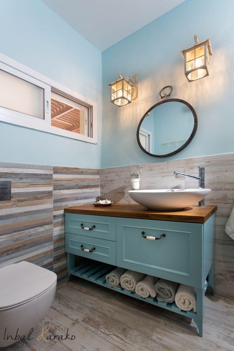 עיצוב חדרי אמבטיה, תאורה במקלחת, ענבל קרקו עיצוב פנים ופנג שואי