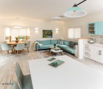 עיצוב בית על פי הפנג שואי, מראה מכיוון האי במטבח, ענבל קרקו עיצוב פנים ופנג שואי