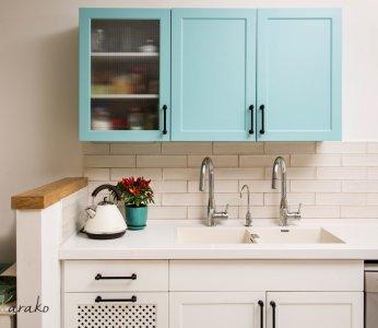 עיצוב בית על פי הפנג שואי, תקריב מטבח, ענבל קרקו עיצוב פנים ופנג שואי