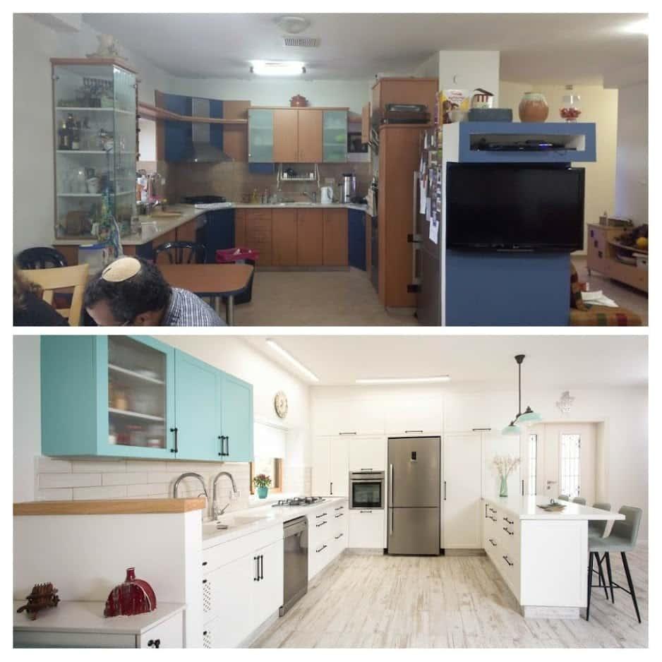 שיפוץ דירה לפני ואחרי, מטבח במשואות יצחק, ענבל קרקו עיצוב פנים ופנג שואי