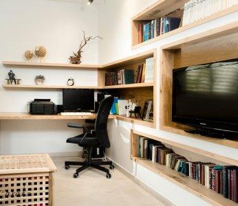 עיצוב בית פרטי ברחובות, תקריב על הנישות בחדר המשפחה, ענבל קרקו עיצוב פנים ופנג שואי