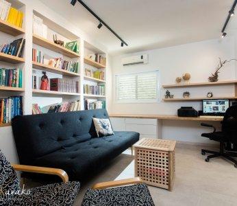 עיצוב בית פרטי ברחובות, מבט נוסף על חדר המשפחה, ענבל קרקו עיצוב פנים ופנג שואי