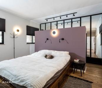 תכנון ועיצוב פנים של בית בצופית,חדר שינה, ענבל קרקו עיצוב פנים ופנג שואי
