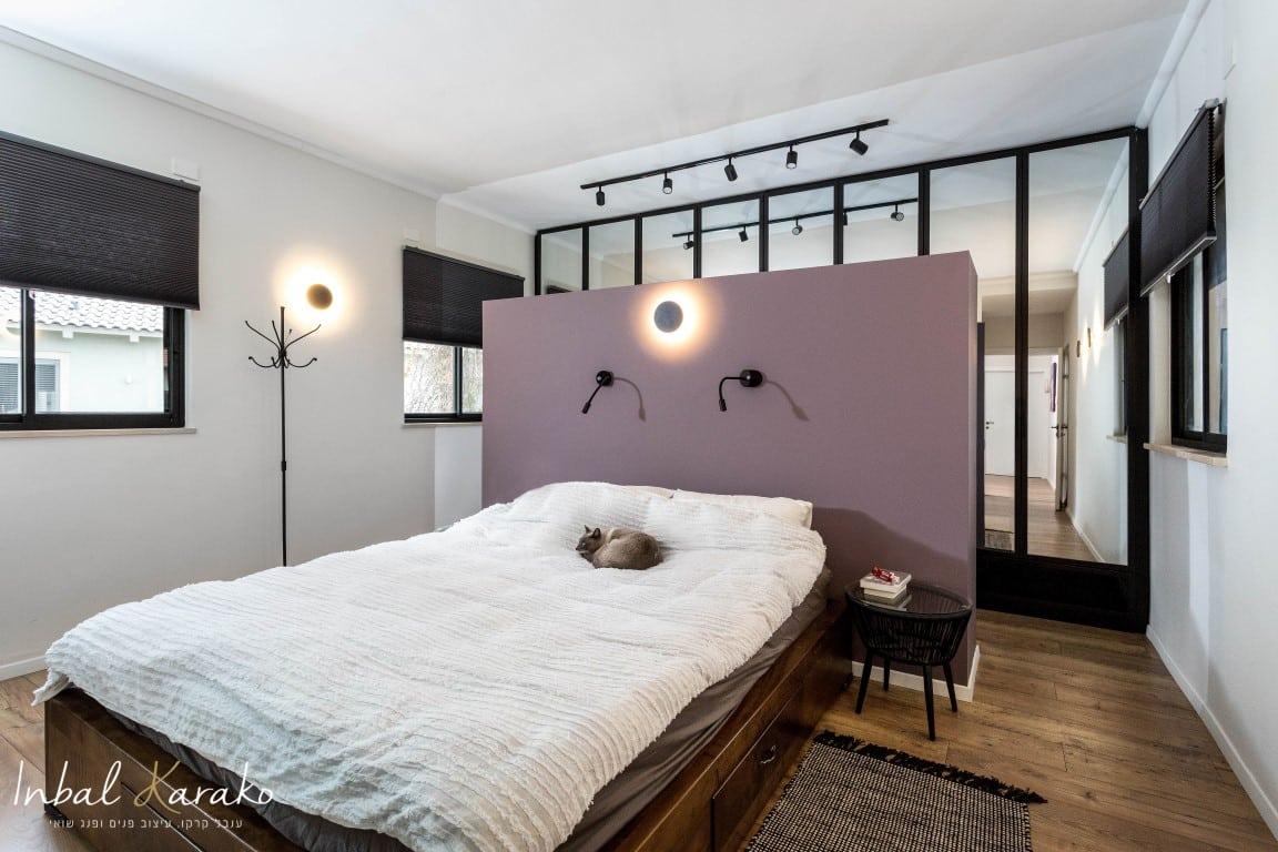 עיצוב דירות יוקרה, חדר שינה שמרגיש כמו בית מלון, ענבל קרקו עיצוב פנים ופנג שואי