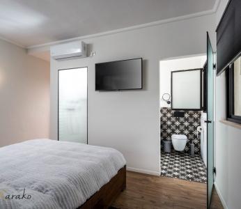 תכנון ועיצוב פנים של בית בצופית,חדר שינה מבט נוסף, ענבל קרקו עיצוב פנים ופנג שואי