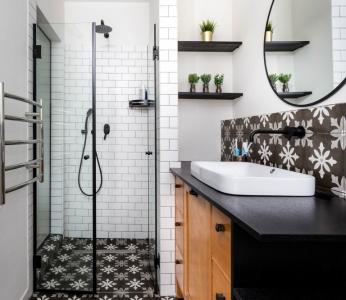 תכנון ועיצוב פנים של בית בצופית,מקלחת הורים, ענבל קרקו עיצוב פנים ופנג שואי