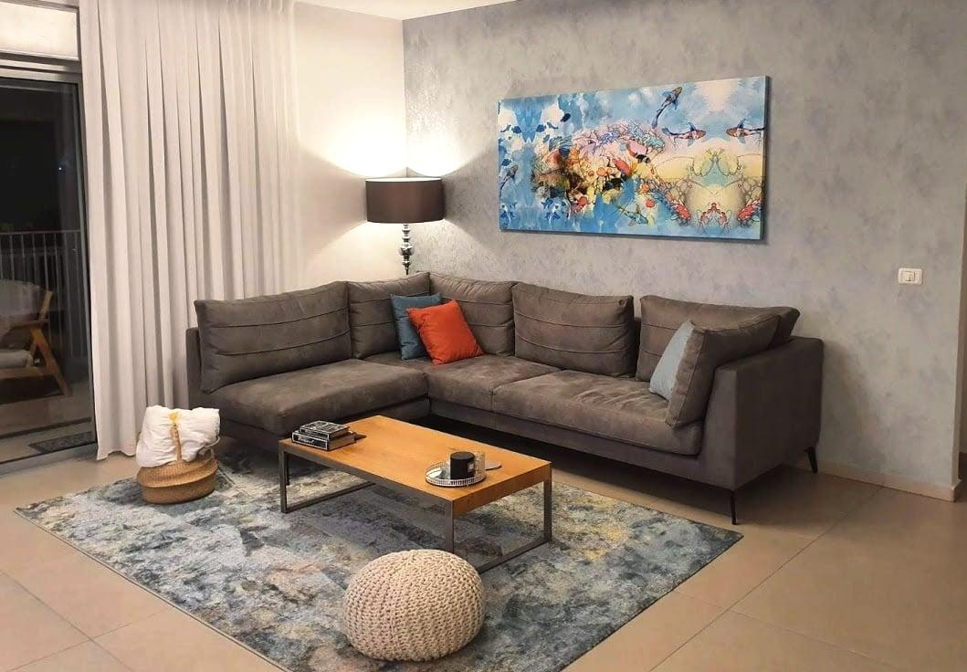 עיצוב הבית בזול, עיצוב דל תקציב של סלון, ענבל קרקו עיצוב פנים ופנג שואי