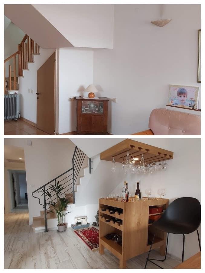 שיפוץ דירה לפני ואחרי, עיצוב בר ביתי בראשון לציון, ענבל קרקו עיצוב פנים ופנג שואי