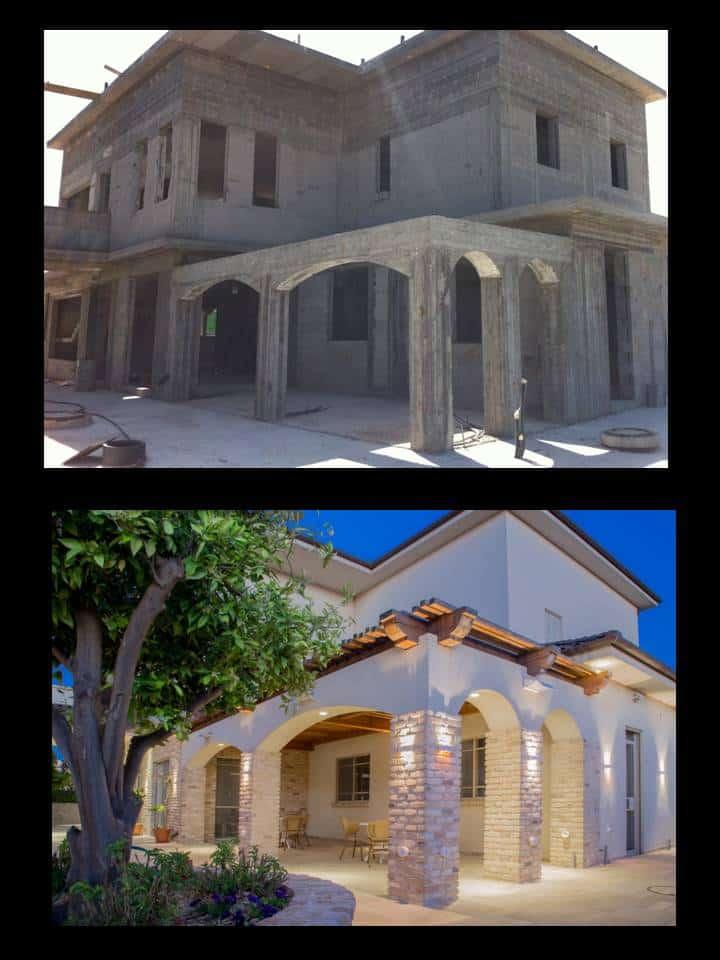 עיצוב פנים בתים פרטיים, עיצוב בית פרטי בגדרה. מבט חוץ, ענבל קרקו עיצוב פנים ופנג שואי