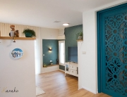 עיצוב בית בסגנון כפרי מודרני, מבואת הכניסה, ענבל קרקו עיצוב פנים ופנג שואי,