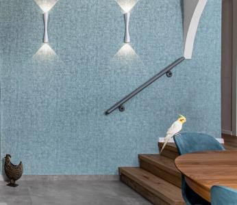 עיצוב דירה מודרני חם ברחובות, תאורת קיר בפינת האוכל, ענבל קרקו עיצוב פנים ופנג שואי