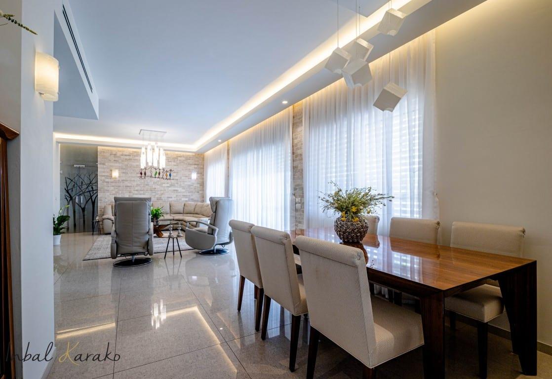 עיצוב דירות יוקרה, בית יוקרה במרכז, ענבל קרקו עיצוב פנים ופנג שואי